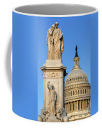 Peace Monument And Capitol Coffee Mug