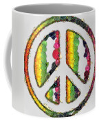 Peace Sign Fruits And Vegetables Coffee Mug