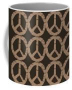 Peace Symbol Collage Coffee Mug by Michelle Calkins