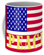 Peace The American Flag Coffee Mug