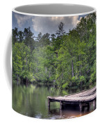 Peaceful Dock Coffee Mug by David Troxel