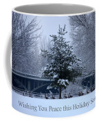 Peaceful Holiday Card - Winter Landscape Coffee Mug
