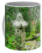 Peaceful Japanese Garden On Mount Desert Island Coffee Mug by Edward Fielding