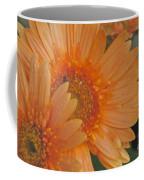 Peach Daisy Cluster Coffee Mug