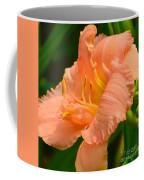 Peach Day Lilly Coffee Mug
