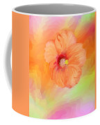 Peach Hibiscus Coffee Mug