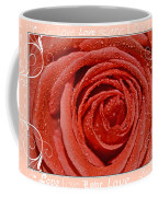 Peach Love Rose Coffee Mug