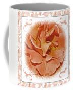 Peach Rose Sqrare Digital Paint Coffee Mug