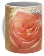 Peach Rose Thank You Card Coffee Mug