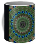 Peacock Abstract Coffee Mug