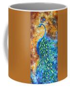 Peacock Abstract Bird Original Painting In Bloom By Madart Coffee Mug