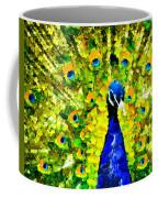 Peacock Abstract Realism Coffee Mug