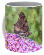 Peacock Butterfly Inachis Io On Buddleja Coffee Mug