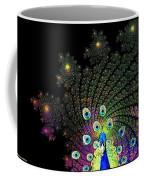Peacock Explosion Display Coffee Mug
