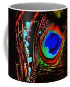 Peacock Feather Abstract Coffee Mug