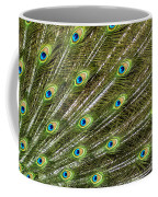Peacock Feather Abstract Pattern Coffee Mug