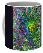 Peacock Feather Abstract Coffee Mug