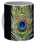 Peacock Feather - Stone Rock'd Art By Sharon Cummings Coffee Mug