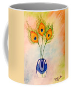 Peacock Feathers In A Vase Coffee Mug