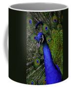 Peacock Head And Tail Coffee Mug