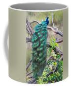 Peacock Perching On A Branch, Kanha Coffee Mug