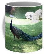 Peacock Strutting His Stuff Coffee Mug