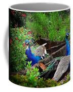 Peacocks In The Garden Coffee Mug