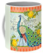 Peacocks In The Rose Garden-3 Coffee Mug