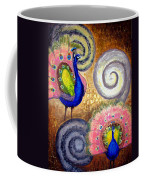Peacock Swirl Coffee Mug