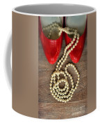 Pearls In Red Shoes Coffee Mug