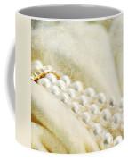 Pearls On White Velvet Coffee Mug