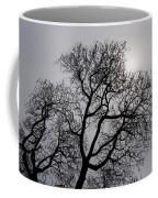 Pearly Silver Filigree On The Sky  Coffee Mug by Georgia Mizuleva