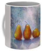 Pears On Blue Original Acrylic Painting Coffee Mug