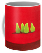 Pears On Red Cloth Coffee Mug