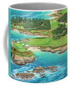 Pebble Beach 15th Hole-south Coffee Mug