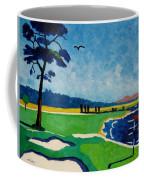 Pebble Beach 18 California Coffee Mug by Lesley Giles