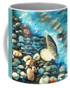 Pebble Beach And Shells Coffee Mug