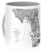 Pebble Beach To  Carmel Mission Carmel River 1876 Coffee Mug
