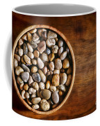 Pebbles In Wood Bowl Coffee Mug