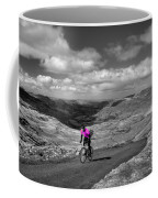 Pedalling The Pass In Pink  Coffee Mug