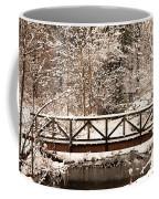 Pedestrian Bridge In The Snow Coffee Mug