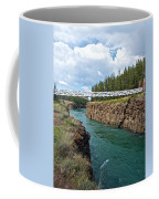 Pedestrian Bridge Over Yukon River In Miles Canyon Near Whitehorse-yk Coffee Mug