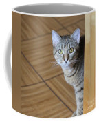 Peeking Around The Corner Coffee Mug