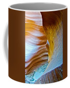 Peeking At Treasure In Lower Antelope Canyon In Lake Powell Navajo Tribal Park-arizona   Coffee Mug