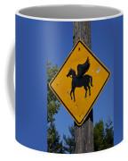 Pegasus Road Sign Coffee Mug