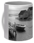 Peggys Cove In Black And White Coffee Mug