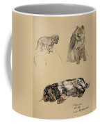Pekinese, Chow And Spaniel, 1930 Coffee Mug