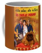 Pekingese Art - 55 Days In Peking Movie Poster Coffee Mug
