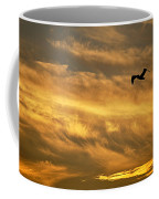 Pelican Against The Golden Sky Coffee Mug
