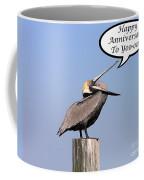 Pelican Anniversary Card Coffee Mug